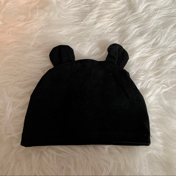 Baby Hat with Bear Ears - Black